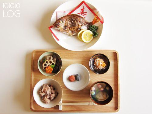 お食い初めの料理と食器。 - 101010LOG