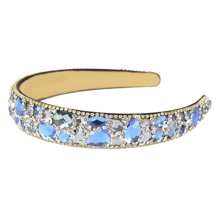 Blue Crystal Headband  #gabianona #hairfashion #happyhead