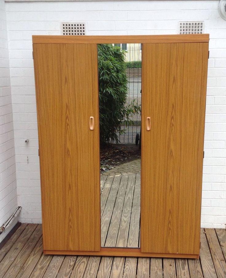 Schreiber Medium Wood Effect Double Wardrobe With Central Mirror RFC 3535 | eBay