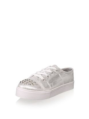 58% OFF Steve Madden JBrandys Lace-Up Sneaker (Little Kid/Big Kid) (Silver)