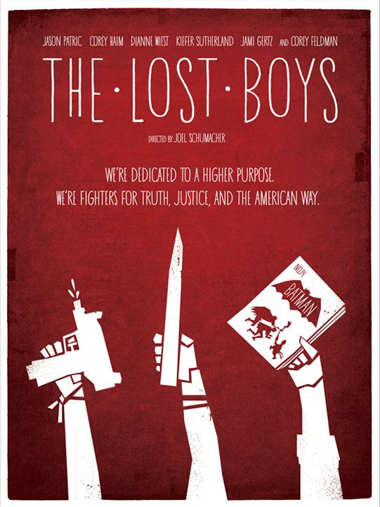 The Lost Boys I love the soundtrack of this movie, wore out several cassettes. Thank god for cd's