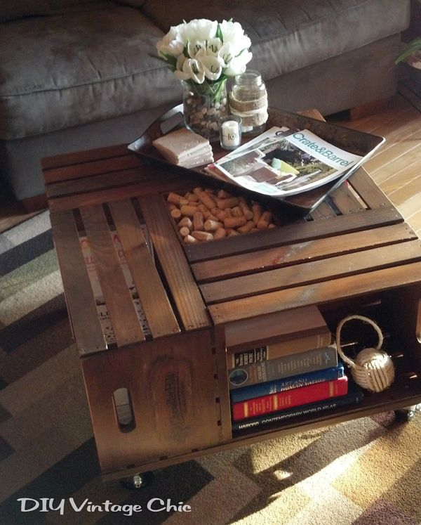 Vintage Wine Crate Coffee Table - DECOmyplace - Home decorating ideas, Interior styling