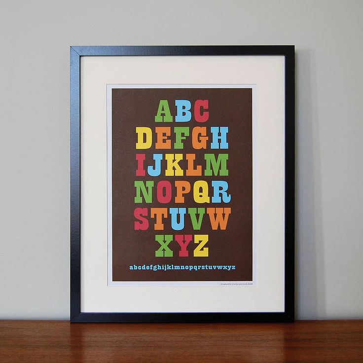 alphabet picture by mrs booth | notonthehighstreet.com
