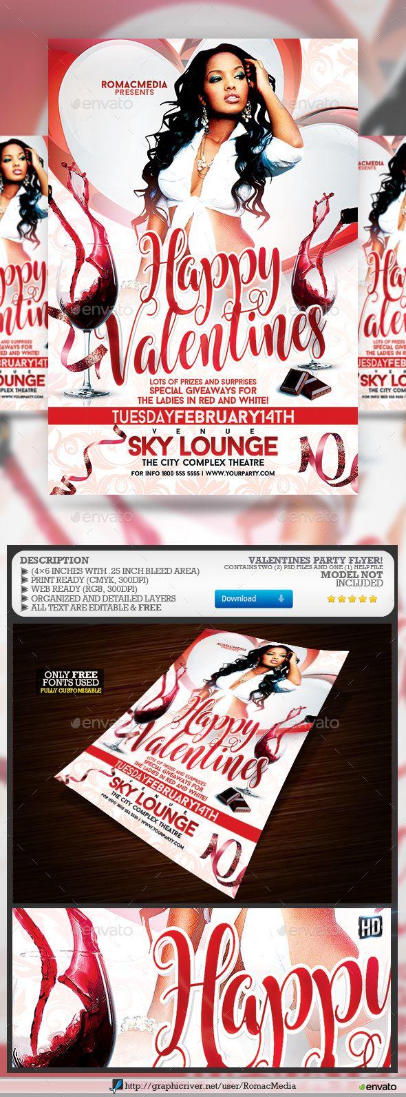 212 besten Valentine\'s Flyer Templates Bilder auf Pinterest | Flyer ...