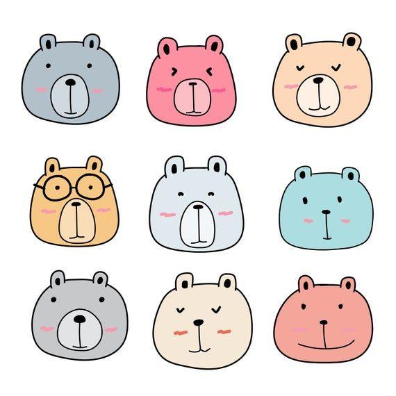 Cute Bear Clipart, Animal Clipart, Cute Animal Clipart ...