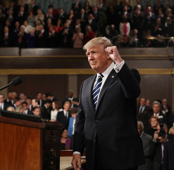 (AFP OUT) U.S. President Donald Trump arrives to deliver an address to a joint session of the U.S. Congress on February 28, 2017 in the House chamber of the U.S. Capitol in Washington, DC. Trump's first address to Congress is expected to focus on national security, tax and regulatory reform, the economy, and healthcare.