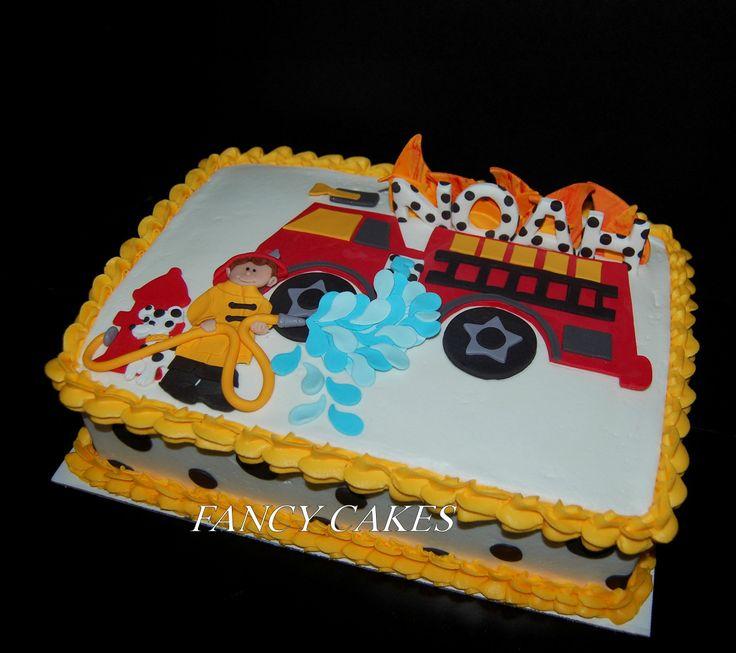 cake ideas boys cake birthday 5th birthday fireman party shower party ...