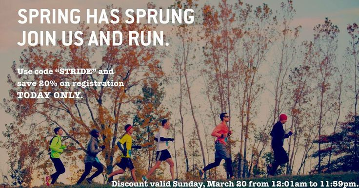 Happy Spring!  For all you runners out there, here is a special discount for the Detroit Free Press Marathon - valid today only! #jointhejourney