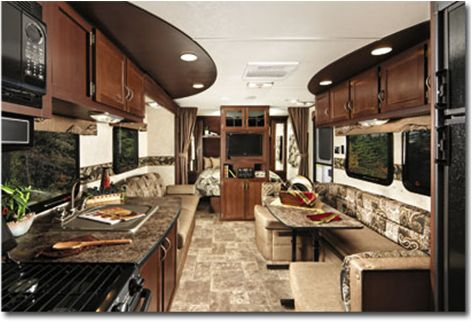 Modern interiors love this trailer for Interior motorhome designs