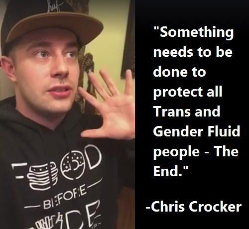 Chris Crocker Transgender People Legally Protected To Use Public Restrooms. It's a basic right.