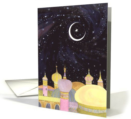 Arabian Night Ramadan card (235696) by Diana Ting Delosh