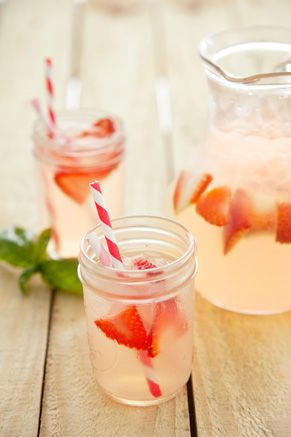 Strawberry Basil Lemonade Ingredients 1 cup water 2 cups sugar 1 pound