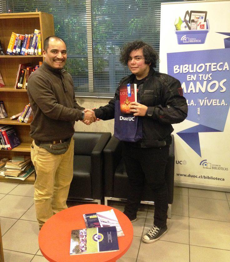 Ganador concurso día del Libro, alumno Javier Rodríguez.