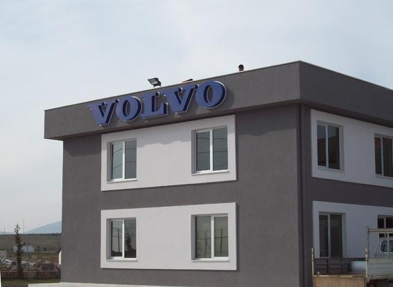 Volvo ışıklı kutu harf tabela.  Daha fazla tabela örnekleri için www.boranreklam.com/tabela/ sayfasını ziyaret ediniz.