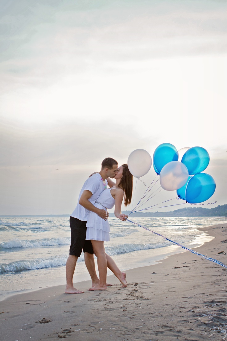 Beach and Balloon Engagement Picture Engagement Picture Engagement Picture Engagement Picture, #hb idea