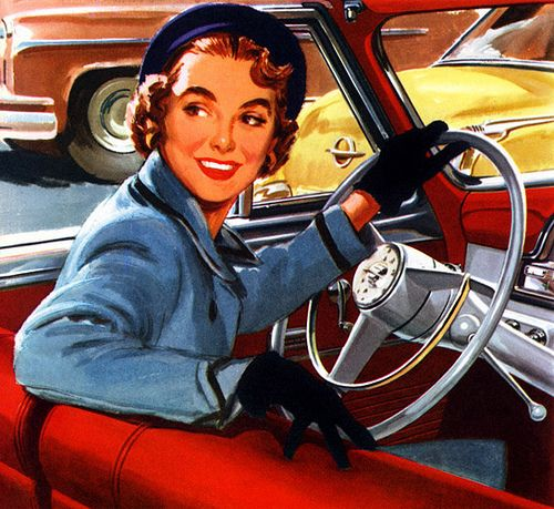 vintage illustration - you can drive my car. artist unknown