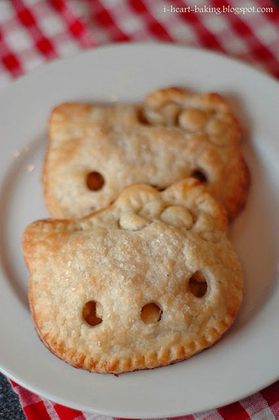 Mini Hello Kitty pies. Party inspiration. Little Miss C. would love it.