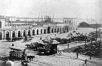 Mercado Público de Porto Alegre (1869) - Ainda apenas com o primeiro piso