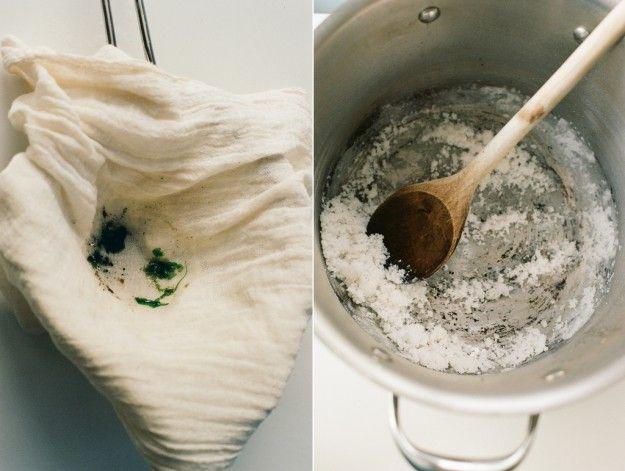Making salt using fresh ocean water