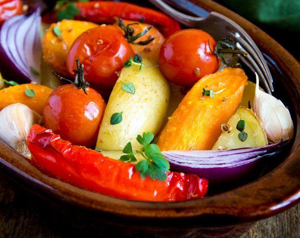 Kunterbunt und gesund: Ofengemüse