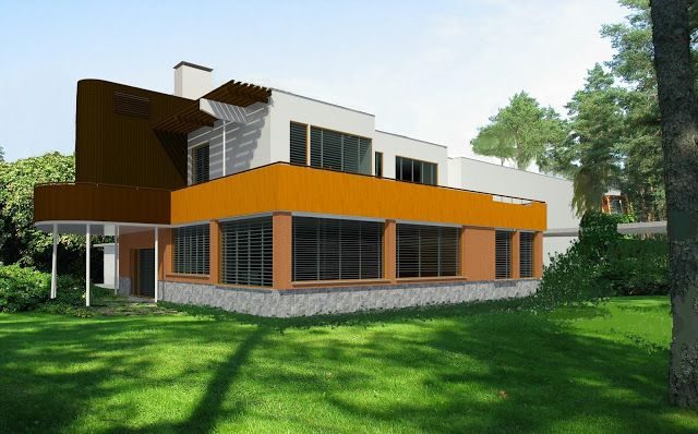 Villa Mairea. Render designed on 5 June, 2015
