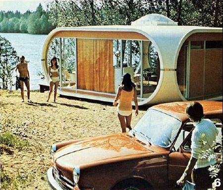 Plastic summer house from 70s by Matti Suuronen.