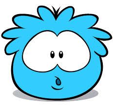 The blue puffle loves playing and can be bought from the pet store by anyone.