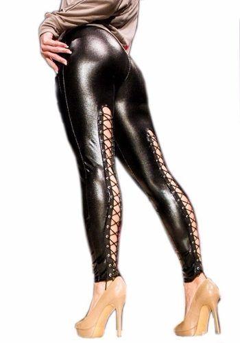 Calça Legging Corset Couro Trançada Atrás Compre já: http://hardrockpants.loja2.com.br #calça #legging #moda #feminina #alternativa #fashion #couro #vinil #latex #pvc #corset #trançada #transpassada #gotica #gothic #rock #metal #HardRockPants