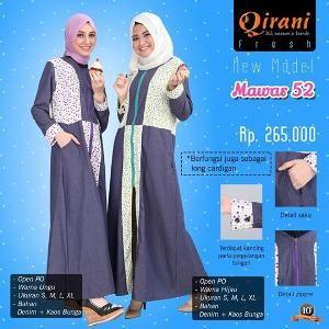 Baju Outter Gamis Wanita Qirani Fresh Mawar 52