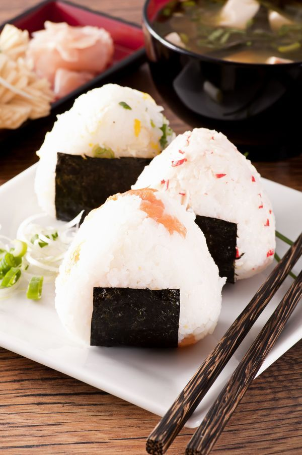 Onigiri  Ingredients  1 small salmon fillet 1 tablespoon butter 2 teaspoons dried parsley 3 cups cooked Japanese rice (rinse and drain at le...