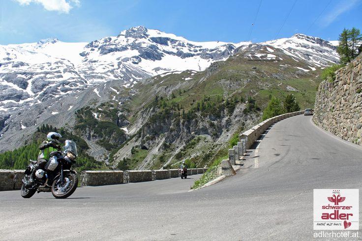 Motorradtouren, traumhaftes Panorama Nauders am Stilfser Joch