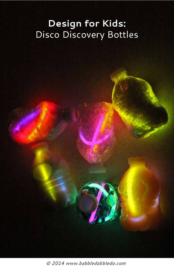 Design for Kids: Disco Discovery Bottles With light month here we got all disco with our discovery bottles!