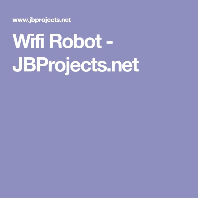 Wifi Robot - JBProjects.net