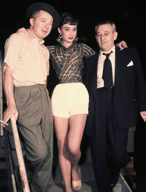 Billy Wilder, Audrey Hepburn and William Wyler