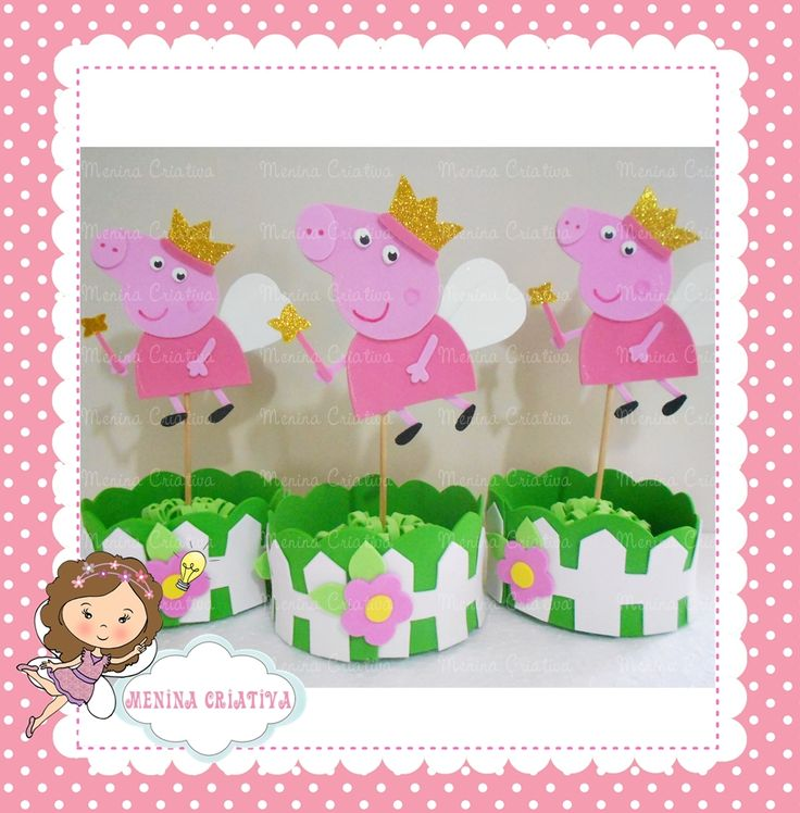 centros de mesa peppa pig - Google Search