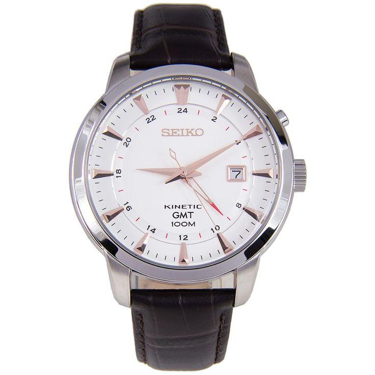 Seiko Kinetic GMT Watch SUN035P1 SUN035P SUN035