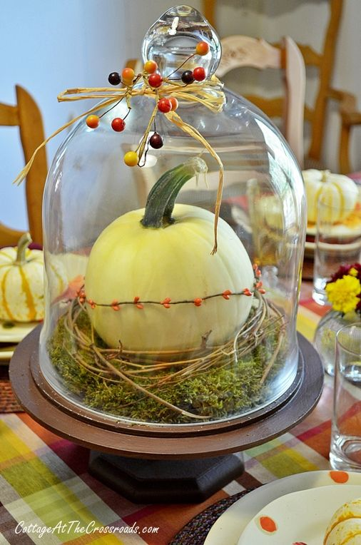 fall tablescape - love the little touches