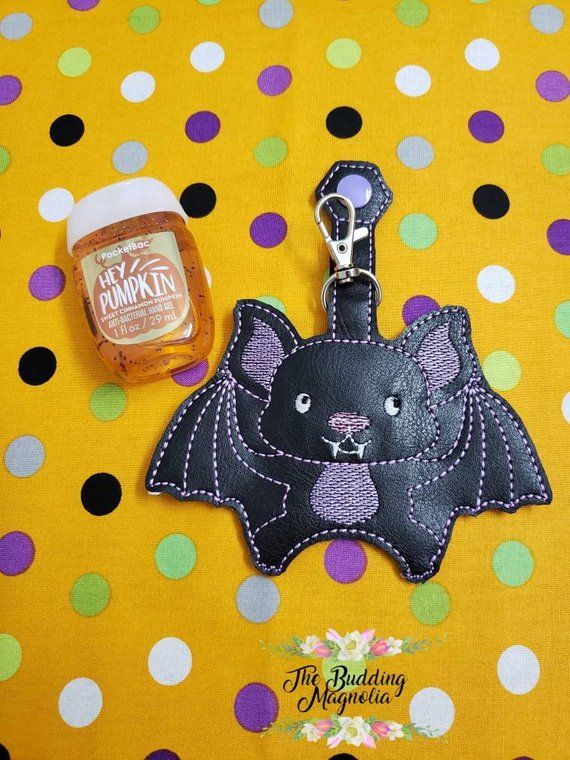 Bat Hand Sanitizer Holder Hand Sanitizer Holder Keychain