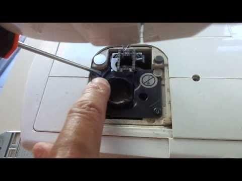 Como consertar regular o ponto da singer facilita e colocar caixa de bobina