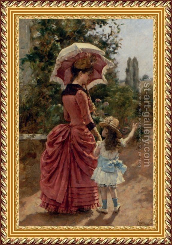 Mother And Child Painting By Charles Cres Reproduction 1st Art Gallery Mother And Child Painting Mother And Child Art