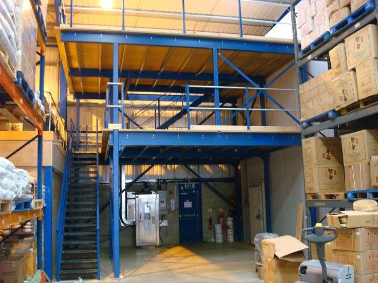 2 Tier Storage Mezzanine Floor in Manchester installed by The Raised Storage Area #2tier #MezzanineFloor #TheRaisedStorageArea