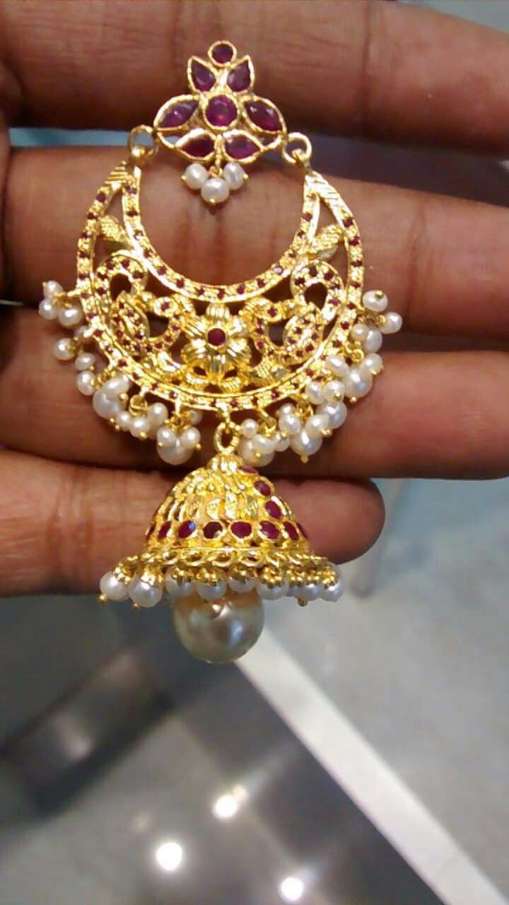 Suhasini in gundla haram jewellery designs - Pm Jumkis