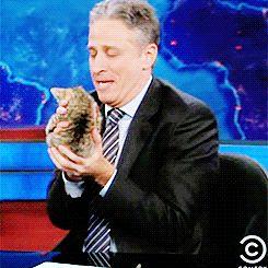 John Stewart and a kitty