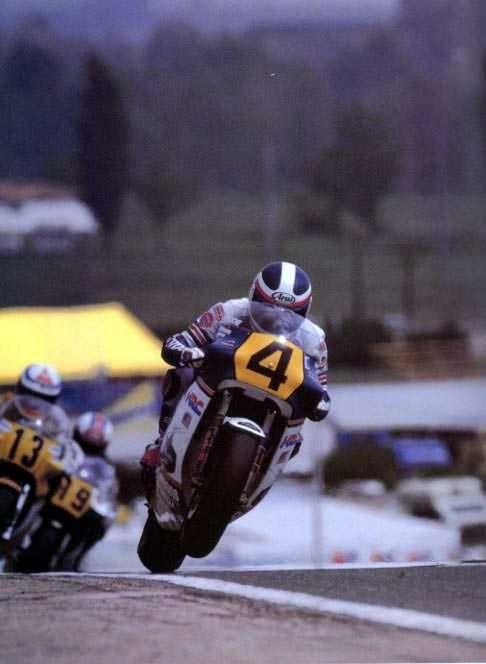Fast Freddie Spencer on a Rothman's Honda.
