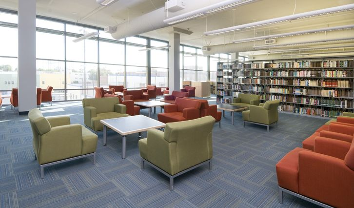 Community College Library modular: Movabl Furniture, Colleges Libraries, Community Colleges, Fpgl Freshstartboard, Tandus Centiva, Libraries Modular