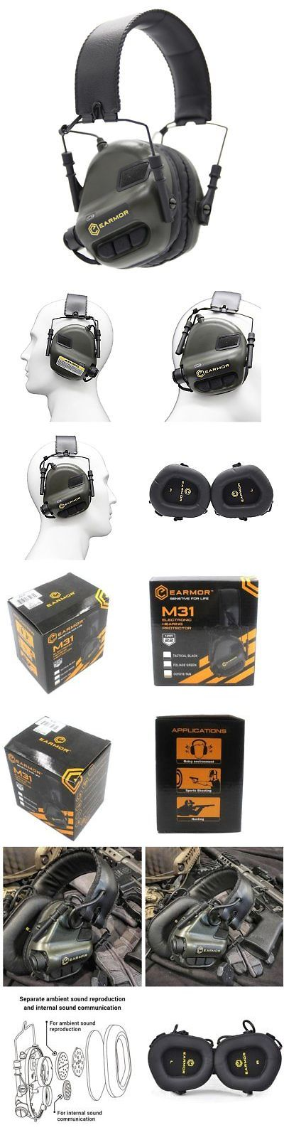 Hearing Protection 73942: Opsmen M31-V2 Sound Amplification Gun Shooting Noise Canceling Hearing Earmuff -> BUY IT NOW ONLY: $32.12 on eBay!