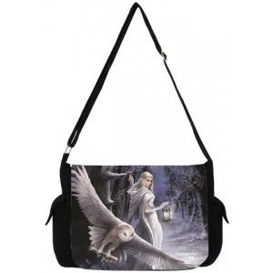 Midnight Messenger Owl Messenger Bag by Anne Stokes - New at GothicPlus.com - your source for gothic clothing jewelry shoes boots and home decor.  #gothic #fashion #steampunk