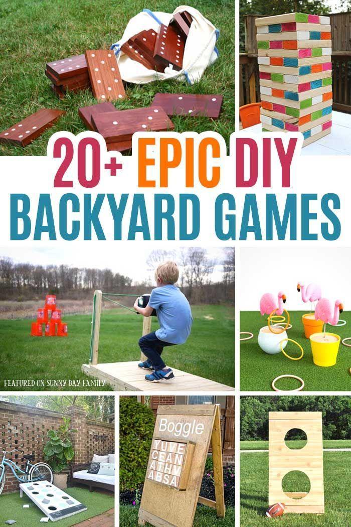 20 Epic Diy Backyard Games For Kids Families Backyard Games