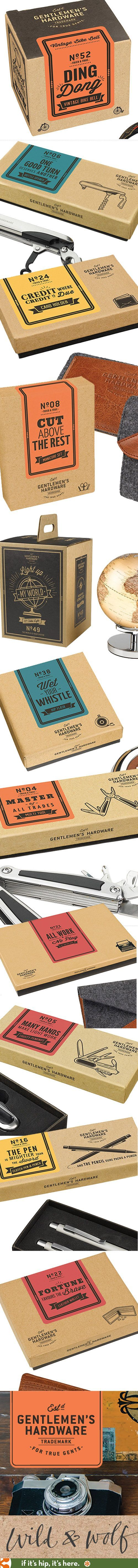 #packaging A look at the Vintage- style packaging for Wild & Wolf's Gentleman's Hardware Collection PD