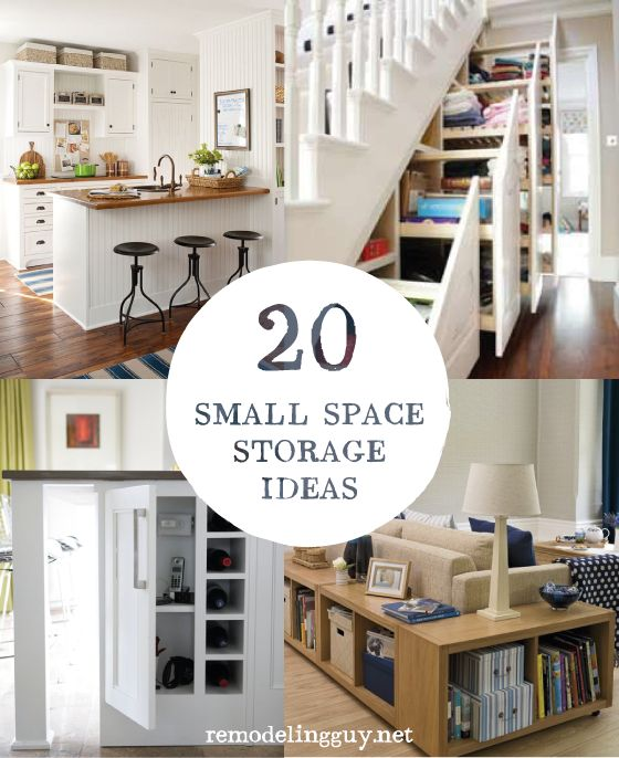 20 Small Space Storage Ideas...so creative! #diy #organize